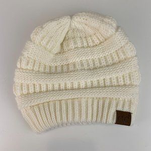 C.C. Cheveux Chunky Cable Knit Beanie Winter hat